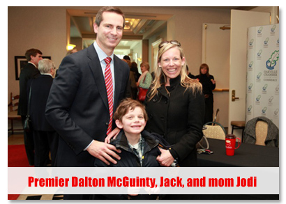 Premier Dalton McGuinty, Jack, and mom Jodi